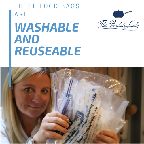 These food bags are washable and reusable